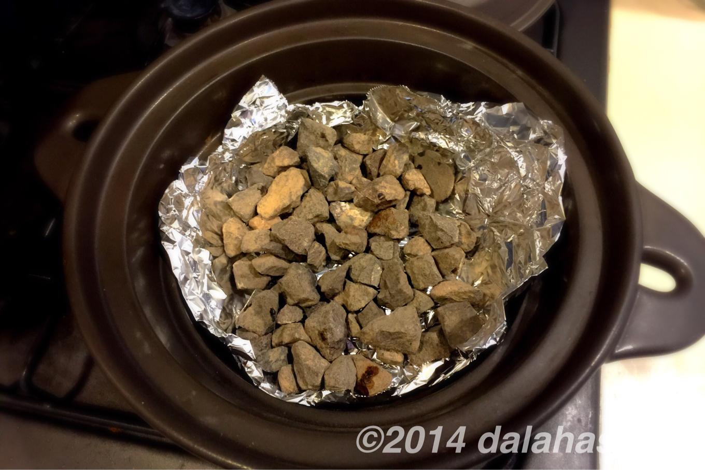 安納芋で石焼き芋
