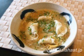 【レシピブログモニターコラボ企画】生姜と炒めねぎどっさりのスープ餃子