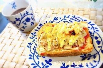 ツナマヨポテトのトースト 朝食にもぴったりでボリューム感抜群