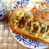 アンチョビと玉葱のマヨガーリックトースト 塩っけがちょびっと効いたカリッと香ばしいトースト