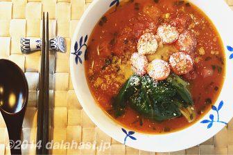 【即席レシピ】 太陽のトマト麺風の粉チーズ&粗挽きガーリックトマトラーメン リゾットも美味い!