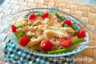 塩鶏とペンネのクリームグラタンのレシピ 食欲をそそる彩で美味しさ倍増