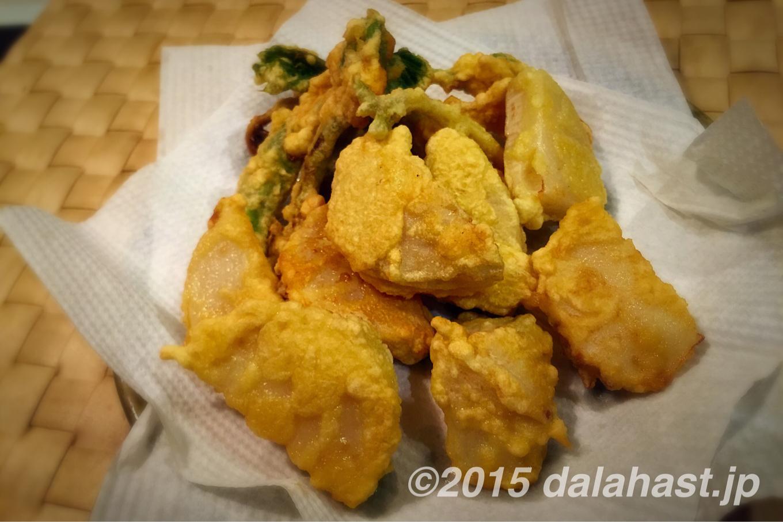 ウドと筍の天ぷら