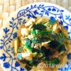 筍と水菜の梅ツナパスタ オリーブオイルと白だし風味