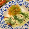 北欧風ディル&ヨーグルトソース添えのサーモンソテー 夏らしくさっぱりソースで彩る