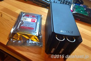BUFFALOのNASの故障3度目 安定性を誇る「WD Red」へHDD換装