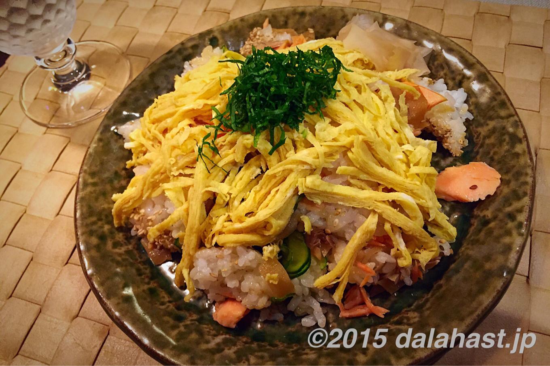 塩鮭のチラシ寿司