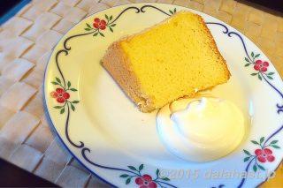 絶品!ふわふわ米粉シフォンケーキ ホイップクリーム添えのレシピ