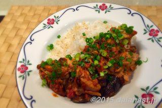 鶏肉とキノコと茄子のトマトクリーム煮 ローズマリーの香りに癒されるワンプレートディナー