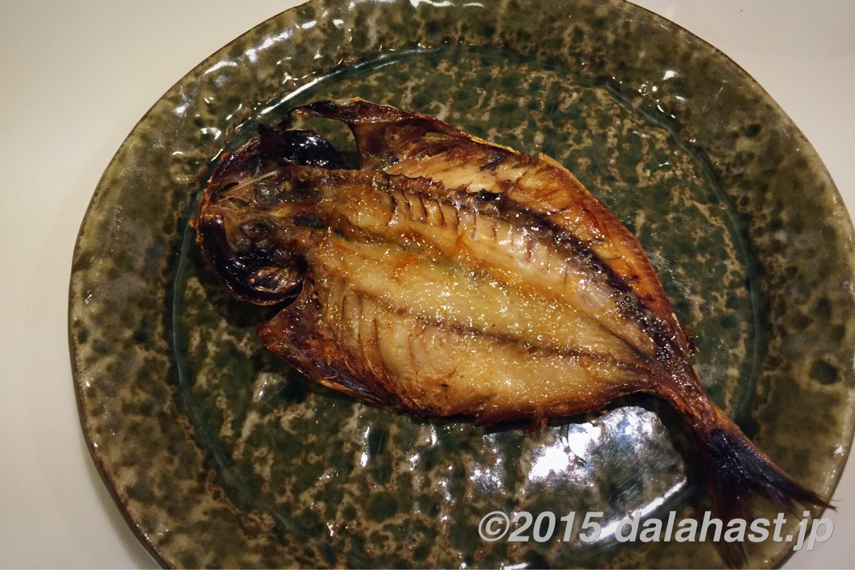 鯵と水菜のペペロンチーノ