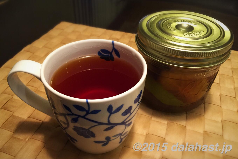 自家製フルブラ(フルーツブランデー)始めました。 自然栽培のレモンでフルブラ紅茶