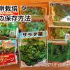 【水耕栽培日記】 蒔ききれなかった種を保存する方法