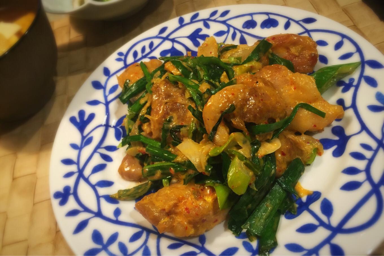 ご飯にあうオカズ 鶏肉のマヨキムチ炒め-NHKあさイチレシピより
