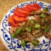 ポークジンジャー 酸味と甘みが凝縮されたキウイソースでお肉も柔らかジューシーになる