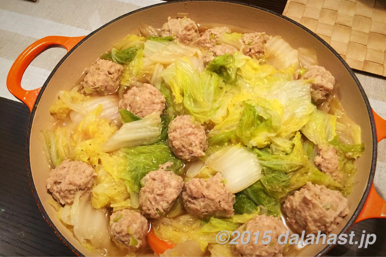鶏団子と白菜の煮込み