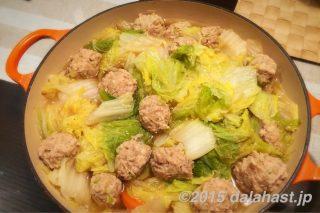 鶏肉だんごと白菜の煮込み 旬の白菜を食べつくす