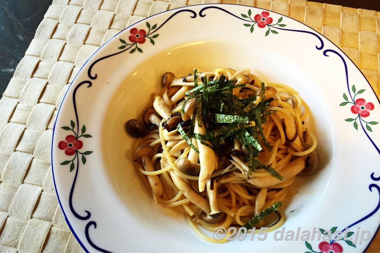 【時短レシピ】塩昆布とキノコの大人パスタ 10分以内でできる和風パスタ