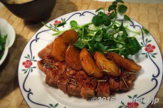 豚肉とリンゴのバルサミコ酢ソテー はちみつ効果でやわらかジューシーなお肉になる