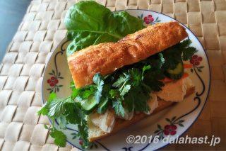 バインミー・サンドイッチ パクチー盛り沢山のヘルシーベトナム風サンドはブランチにおすすめ