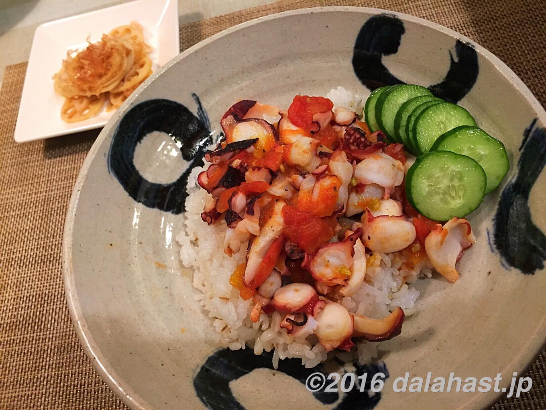 「たこぺぺ丼」 夏にぴったりのペペロンチーノ丼ぶりのレシピ