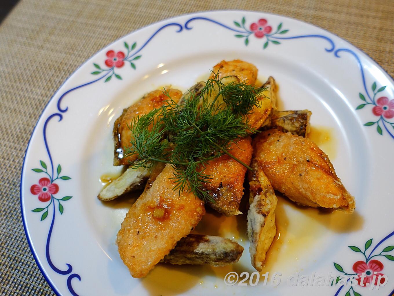 【レシピ】秋の味覚 鮭とゴボウのママレードソース ジャムを使って一工夫