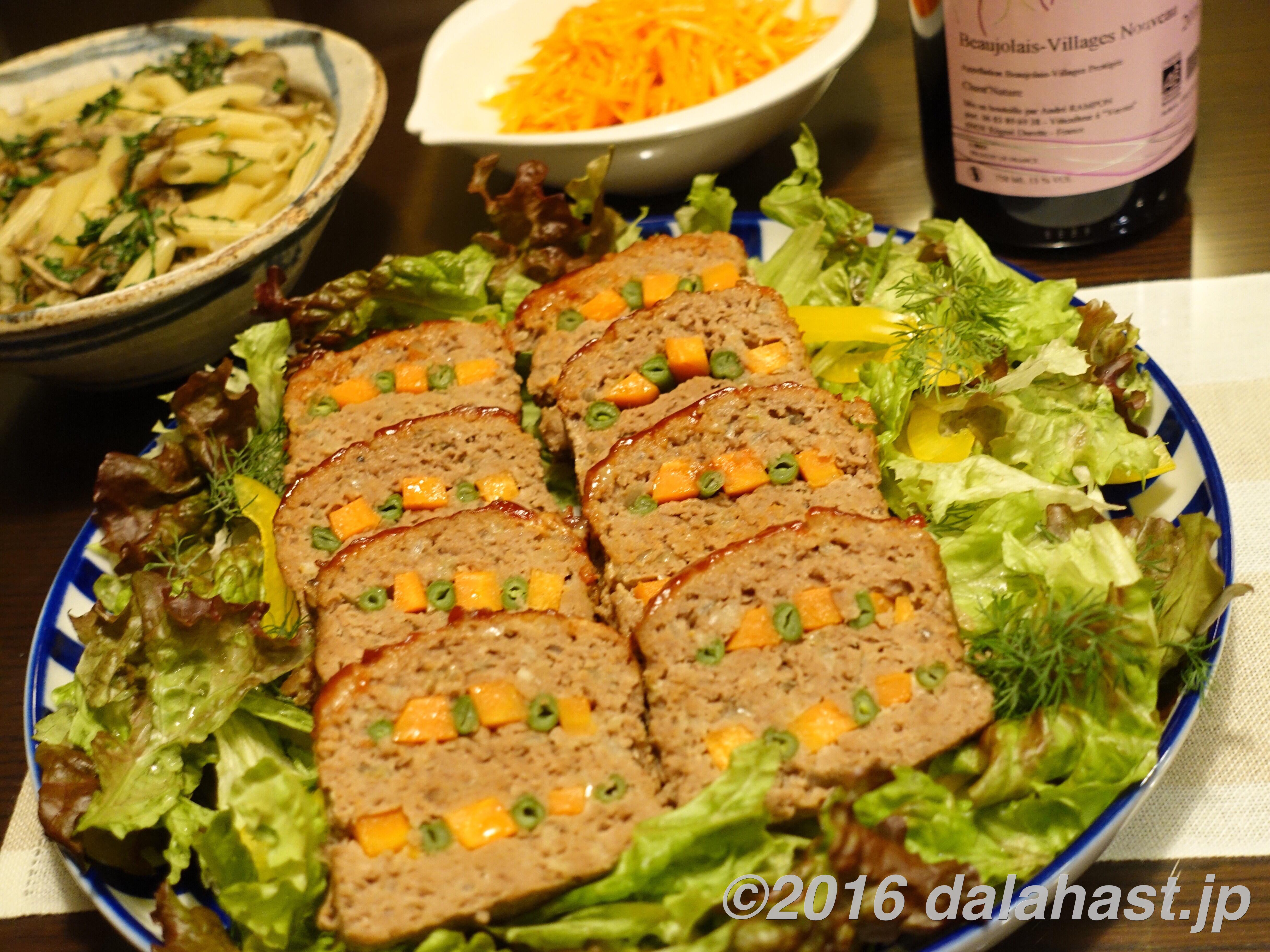 【レシピ】 野菜彩るミートローフの作り方