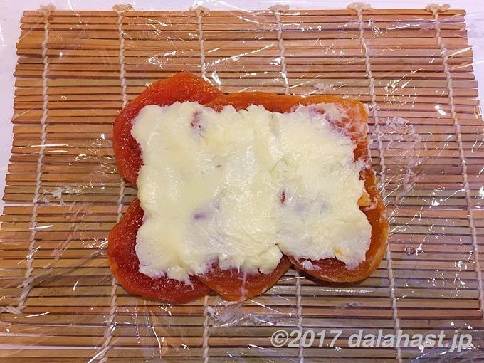 干し柿バター塗る