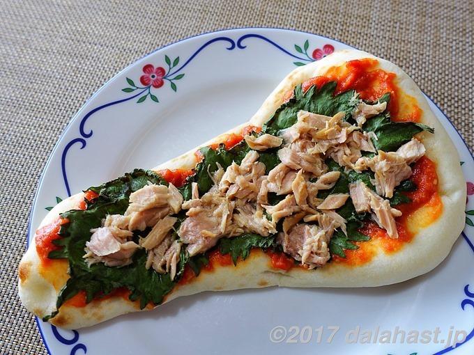 トマト味噌ピザ