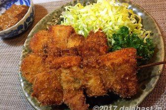 【郷土飯】大阪名物「串カツ」を自宅でつくって食す ポン酢+七味ソースがうまい!