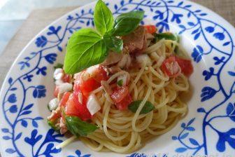 【夏パスタ】 トマトとツナの冷製パスタ レモン風味 旬のレモンの爽やかな香りと酸味が効いたレシピ