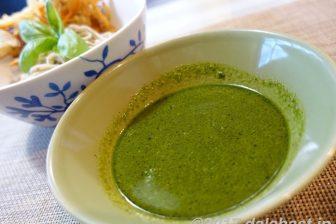 【レシピ】 バジル冷やし蕎麦 爽やかなつけだれで新しい美味しさ発見!