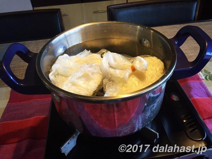 圧力鍋で炊飯2
