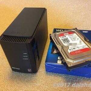 BUFFALOのNASが故障した時のHDD換装記録4回目(WD Red)
