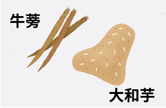 牛ごぼう丼旬の素材