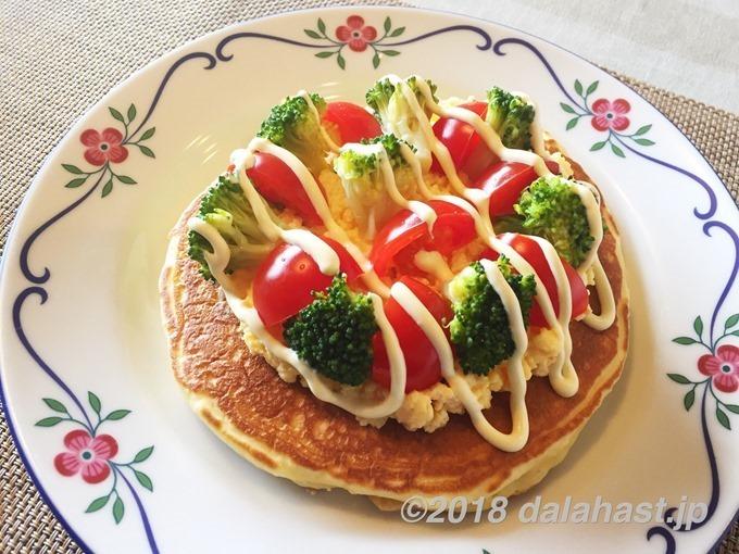 サラダホットケーキ