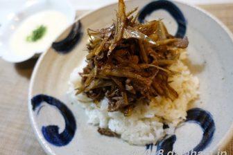 【レシピ】 牛ごぼう丼大和芋がけ 味噌入りとろろが絶妙にあう!