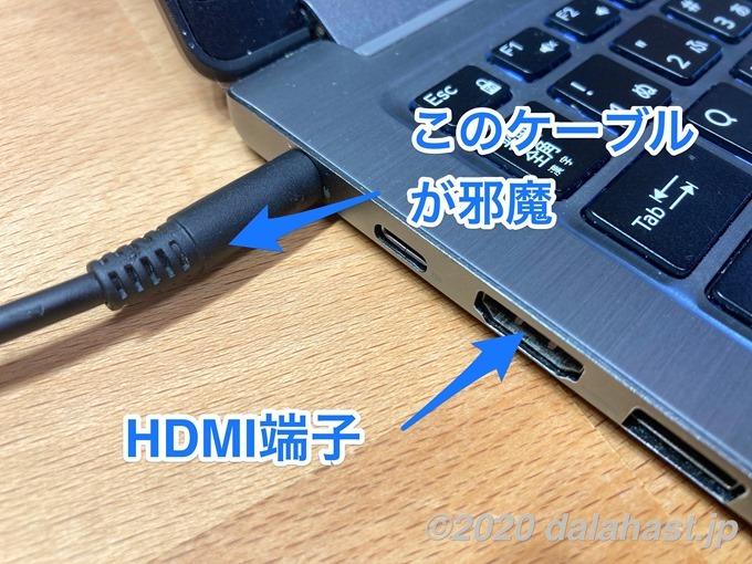 HDMI L字型アダプタがNGの場合