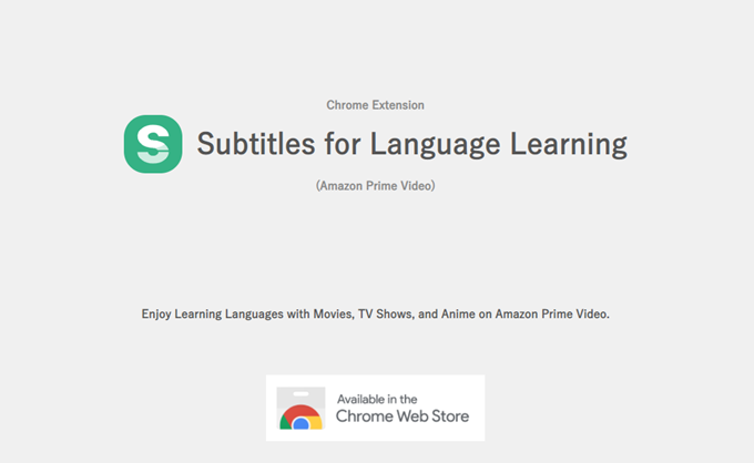 Subtitles for Language Learning
